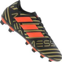 Chuteira De Campo Adidas Nemeziz Messi 17.4 Fg - Adulto - Preto d20b8065e30a4