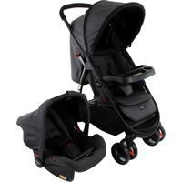 Carrinho De Bebê Travel System Cosco Nexus Preto Com Bebê Conforto