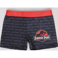 Sunga Infantil Boxer Jurassic World Chumbo
