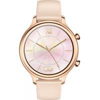 Relógio Ticwatch Smartwatch Feminino Ticwatch C2 Rxrx Caixa Aço Inoxidavel Rose Pulseira Couro Rose