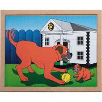 Conjunto De Quebra-Cabeças Animais & Filhotes Cachorro- Carlu