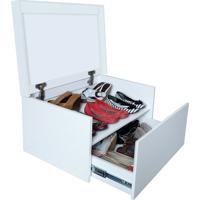 Sapateira Box Baú Caixa Organizadora Para Sapatos - Branca Laca