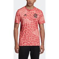 Camisa Flamengo Pré-Jogo 20/21 Adidas Masculina - Masculino-Rosê