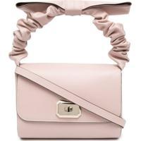 Red(V) D)Bell Bow Shoulder Bag - Rosa