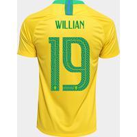 e5d47917ed Netshoes  Camisa Seleção Brasil I 2018 Nº 19 Willian - Torcedor Nike  Masculina - Masculino