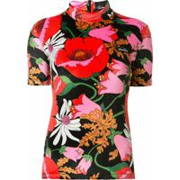 Richard Quinn Blusa Com Stretch E Estampa Floral - Preto