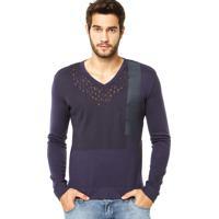 d2735f80074f0 Blusa Calvin Klein Decote Roxa Calvin Klein Homem - MuccaShop
