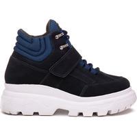 Sneaker Rock Fit York Plataforma Em Couro Azul