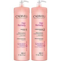 Kit Hair Remedy Cadiveu Shampoo 980Ml+Condicionador 980Ml
