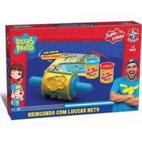 Massinha Super Massa Estrela Brincando Com Luccas Neto - Unissex-Amarelo