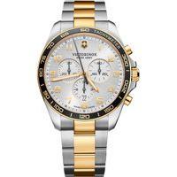 Relógio Victorinox Swiss Army Unissex Aço Prateado E Dourado - 241903
