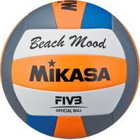 Bola Vôlei De Praia Mikasa Vxs-Bmd Branca E Azul