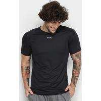 Camiseta Fila Basic Train Masculina - Masculino-Preto