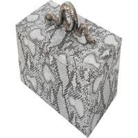 Caixa Decorativa- Pashmina- Caixa Decorativa- Branco