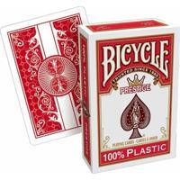Baralho Bicycle Prestige Texas Holdem Plástico Vermelho - Unissex