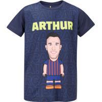 Camiseta Barcelona Arthur - Infantil - Azul Escuro