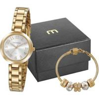 Relógio Feminino Mondaine Analógico 32115Lpmvde1K Com Acessório - Feminino-Dourado