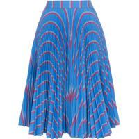 Calvin Klein 205W39Nyc Saia Midi Com Pregas - Azul