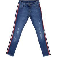 Calça Jeans Skinny Juvenil Para Menina - Azul