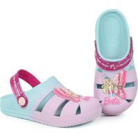 Sandália Rasteira Infantil Grendene Barbie Fada Ro