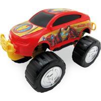 Carrinho Roda Livre - Monster Car - Avengers - Iron Man - Marvel - Toyng - Masculino