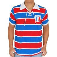 Camisa Retrô Mania Fortaleza Cordinha - Masculino-Azul+Vermelho