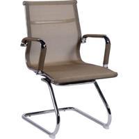 Cadeira Office Eames Tela- Cobre & Prateada- 89X54,5Or Design