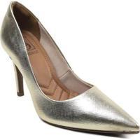 Scarpin Bebece Metalizado - Feminino-Dourado