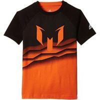 Camisa Adidas Messi Grap T Júnior - Masculino-Laranja+Preto