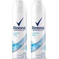 Kit Desodorante Rexona Cotton Dry 48 Horas Aerosol Feminino 150Ml Com 2 - Feminino-Incolor