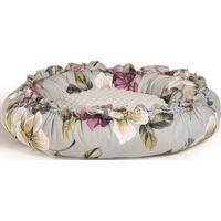 Puff Boia Menor Floral Almofada Branca 57Cm - 62321 - Sun House