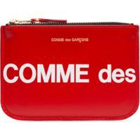 Comme Des Garçons Wallet Carteira Pequena Com Logo - Vermelho