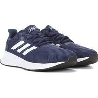 Tênis Infantil Adidas Runfalcon K - Unissex-Azul+Preto
