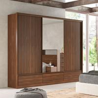 Guarda-Roupa Casal Com Espelho Lounge 3 Pt 7 Gv Âmbar