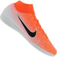 Chuteira Futsal Nike Mercurial Superfly X 6 Academy Ic - Adulto - Laranja/Branco