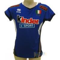Camisa Italia Volei Errea Feminina 17/18 Azul - Errea
