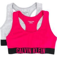 Calvin Klein Kids Conjunto Com 2 Sutiãs Esportivos - Rosa
