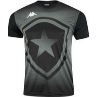 Camiseta Do Botafogo Escudo 2019 Kappa - Masculina - Preto