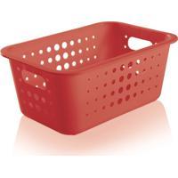 Caixa Decorando Com Classe Organizadora M Vermelha