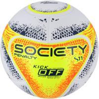 Bola Society Penalty S11 R2 Ko Viii - Branco Laranja ddd80396a016a