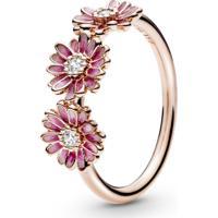 Anel Pandora Rose™ Trio De Margaridas Pink