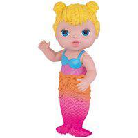 Boneca Babys Collection Sereia Loira 421 Super Toys