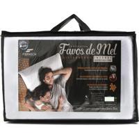 Travesseiro Fibrasca Favos De Mel Intense - Branco - Dafiti