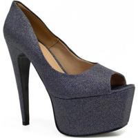 aca3ce0d9f ... Sapato Zariff Shoes Peep Toe Meia Pata Festa - Feminino-Azul