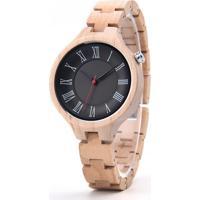 Relógio Design Madeira Dododeer-A14 - Preto