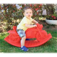 Moto De Balanço Vermelho Alpha Brinquedos