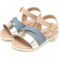 Sandália Klin Flat Baby Azul