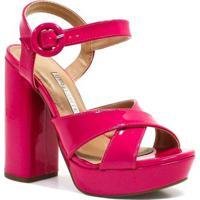 Sandália Via Marte Salto Fivela - Feminino-Pink