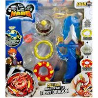 Pião De Batalha - Infinity Nado - Deluxe Non Stop Battle Fiery Dragon - Azul - Candide