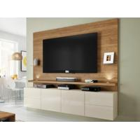 "Home Theater Para Tv Ate 52"" Summer Buriti/Off-White-Líder Design"